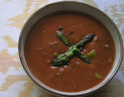 Black Bean Soup with Asparagus