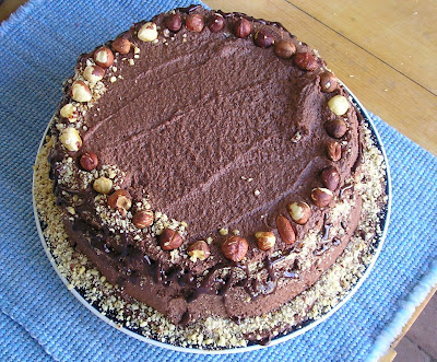 The decorated hazelnut torte