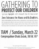 Upcoming Events:  Sunday, March 22nd - Program to Stop Abuse
