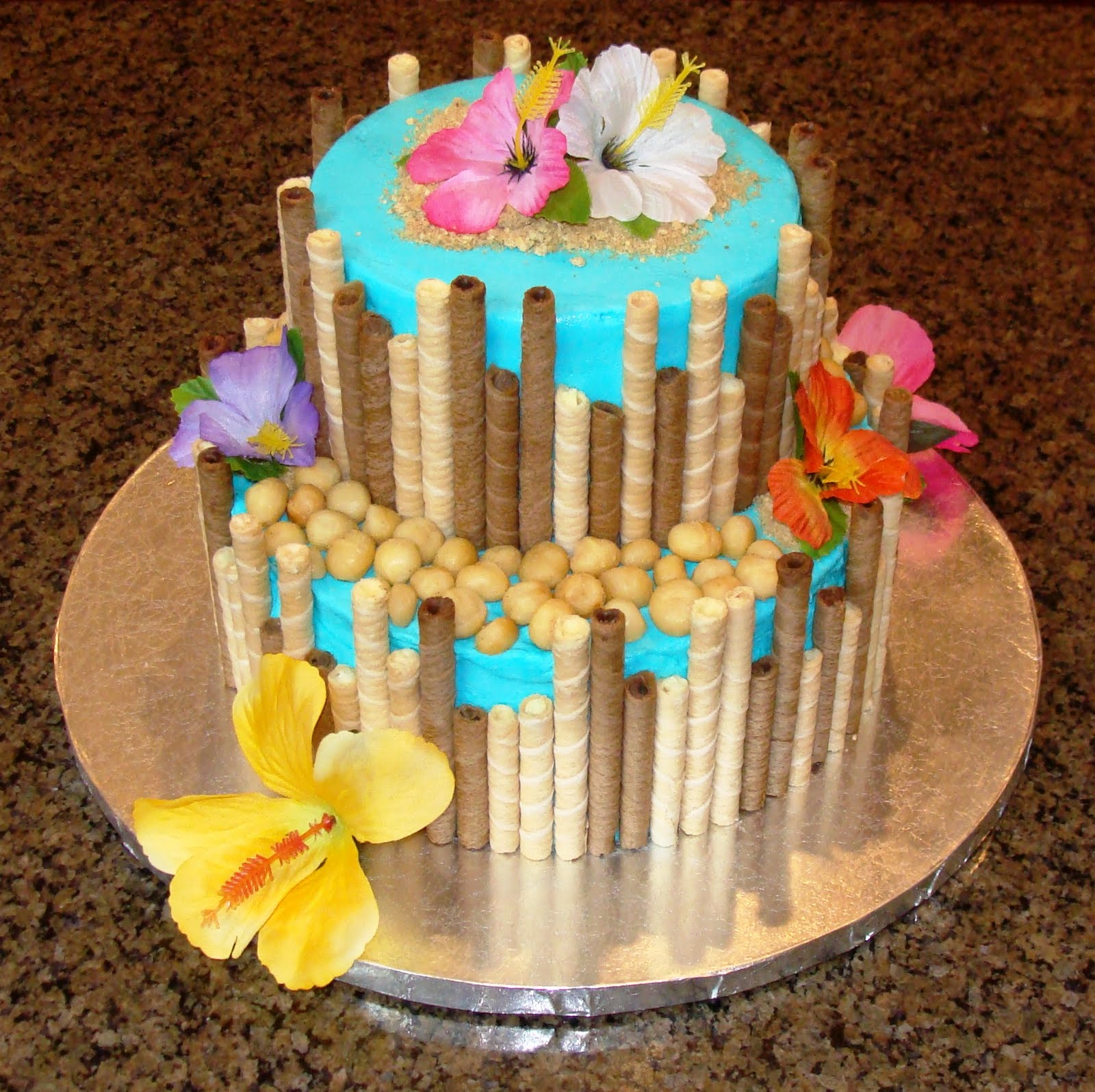 Beach Hawaiian Theme Cake — Birthday Cakes