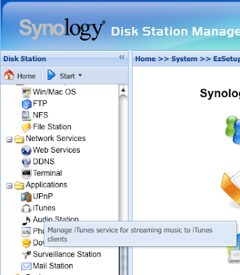 I Found This Useful: Synology Diskstation - share music to
