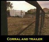 Corral and trailer
