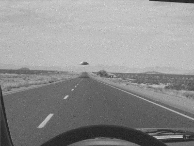 Flying Saucer On New Mexico Hwy