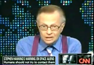 Larry King During Hawking Show