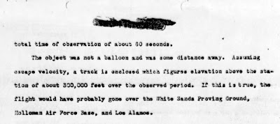 Statement By Charles Moore Re Sighting Over White Sands on 4-24-1949 (B)