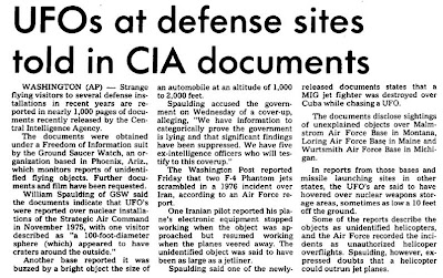 UFOs at Nuclear Missile Sites State CIA Documents
