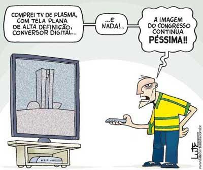 Resultado de imagem para telefonia no brasil charge
