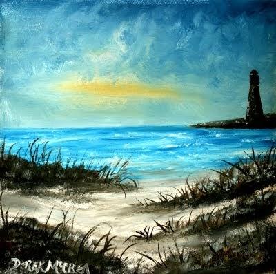 Watercolor Paintings Art By Derek Mccrea Beach