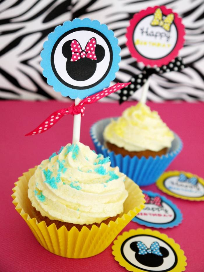 Modern Minnie Mouse Inspired Birthday Party Printables - BirdsParty.com
