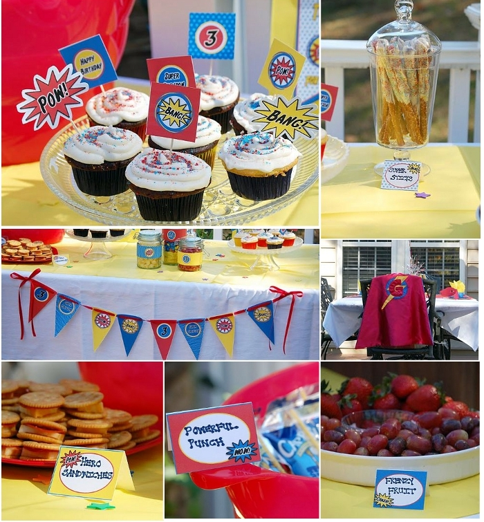 Boys Party Ideas | A Fun Superhero Birthday Party - BirdsParty.com