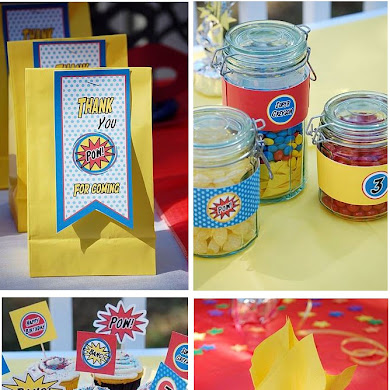 Boys Party Ideas | A Fun Superhero Birthday Party