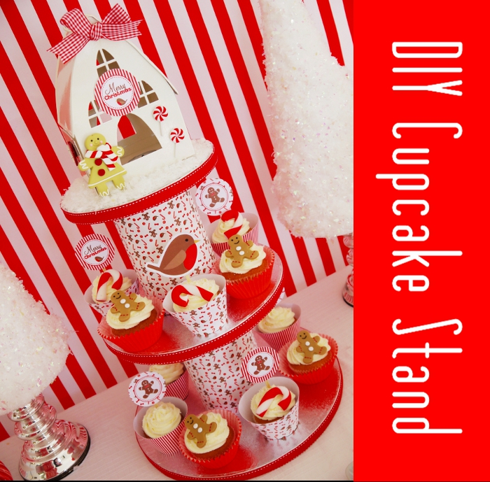 Tutorial: DIY Cupcake Stand using upcycling packaging - BirdsParty.com