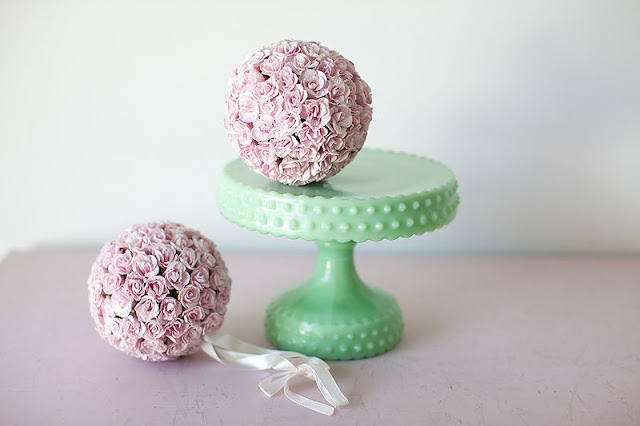 Pretty Cupcake Stand Milk Glass - via BirdsParty.com