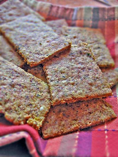 Gluten free cheese crackers with garlic