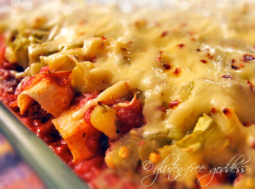 Pineapple Salsa Chicken Enchiladas- easy, tasty, gluten-free