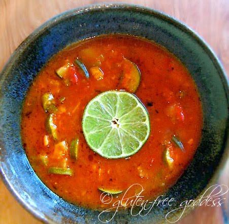 Fresh vegetable soup with lime #glutenfree