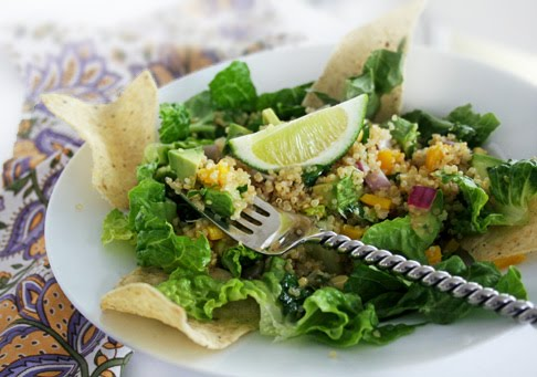 Gluten free quinoa taco salad