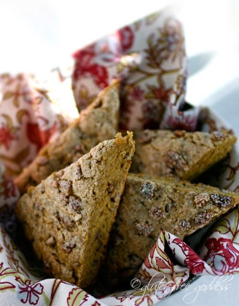 GLUTEN-FREE GODDESS: Gluten-Free Butternut Pecan Scones