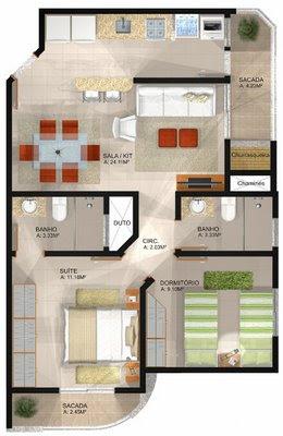 planta de casa residencial