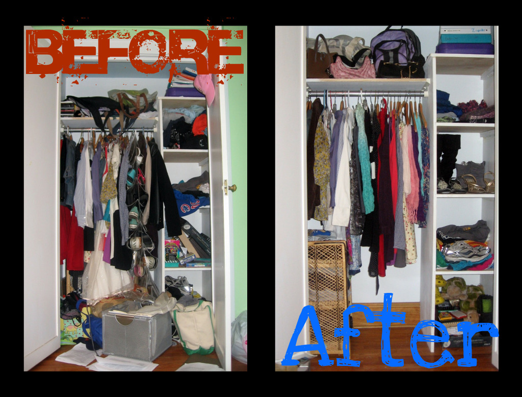Style Rush Before After Closet Makeover