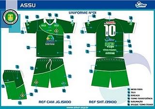 NIEL - ESPORTE E LAZER  ASSU estreia nova camisa hoje 18d2610c454ec