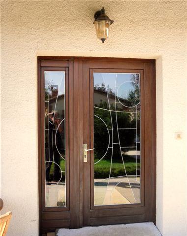 vitrail porte d'entrée, double vitrage anti effraction