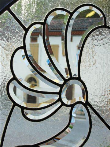 Porte vitraux verre biseautés