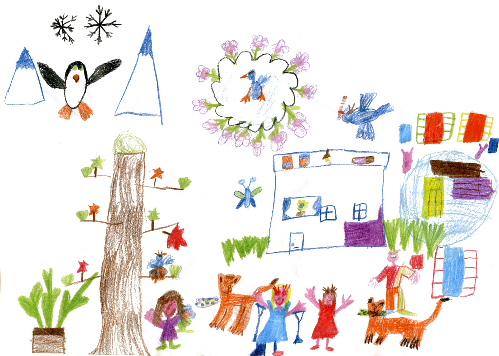 Turning Pages: Post #400! Kids' Drawings