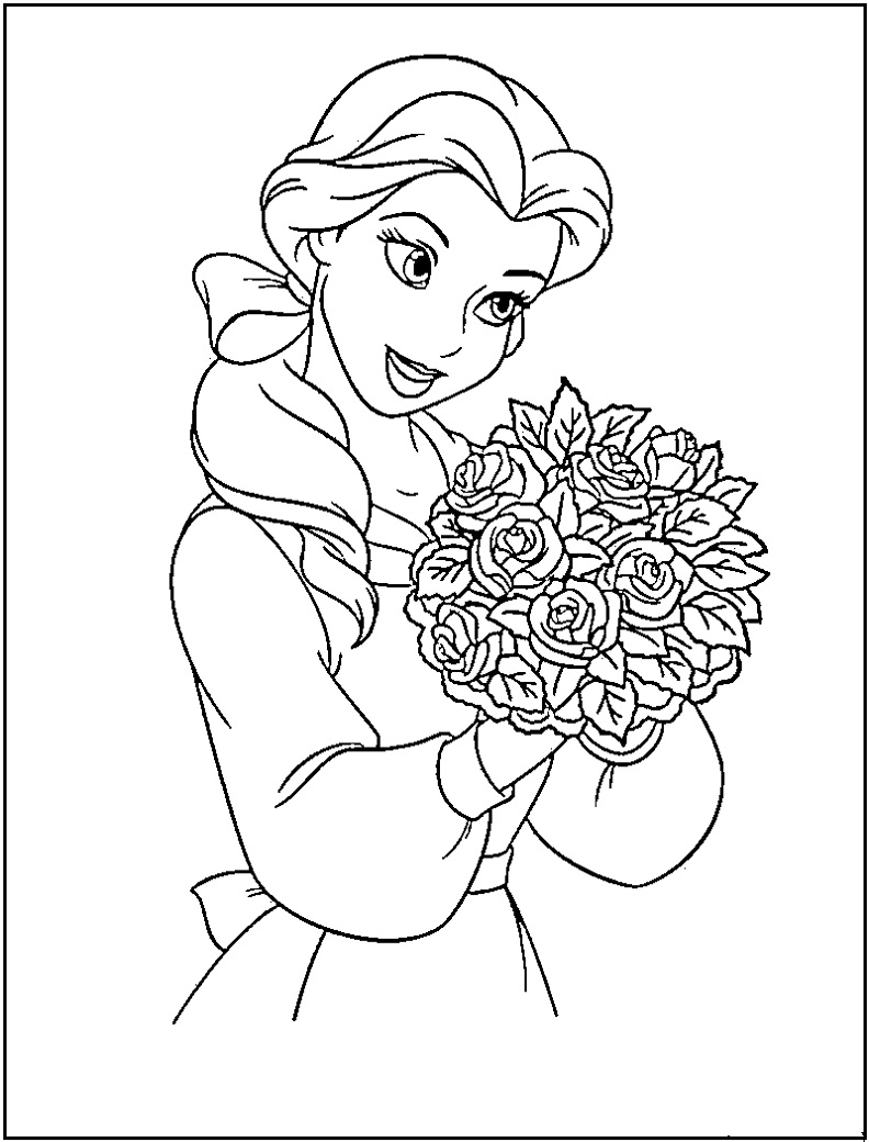 Printable Coloring Pages: Disney Princess Coloring Pages