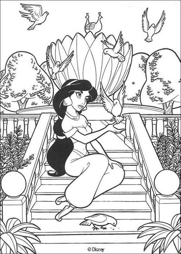 Disney princess coloring pages free printable for Printable coloring pages disney princess