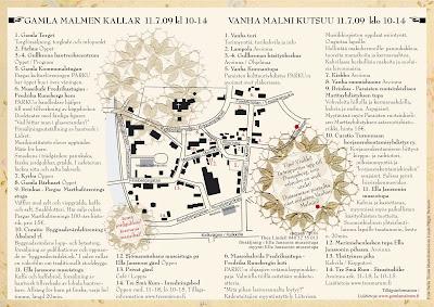 Tre Sma Rum Vanhan Malmin Kartta