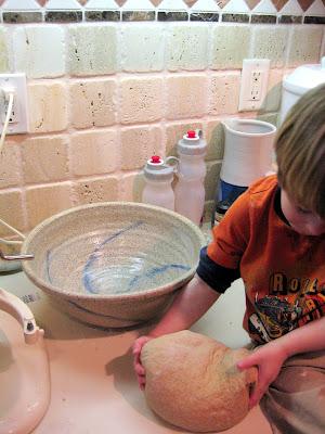Kneading The Bread Communion Bread No Crumbs