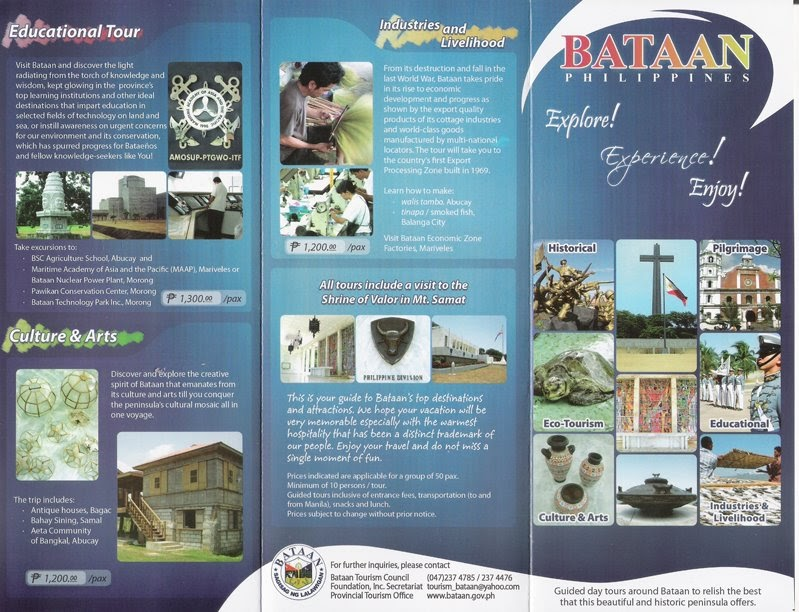 Travel Central Philippines Brochure Bataan Province