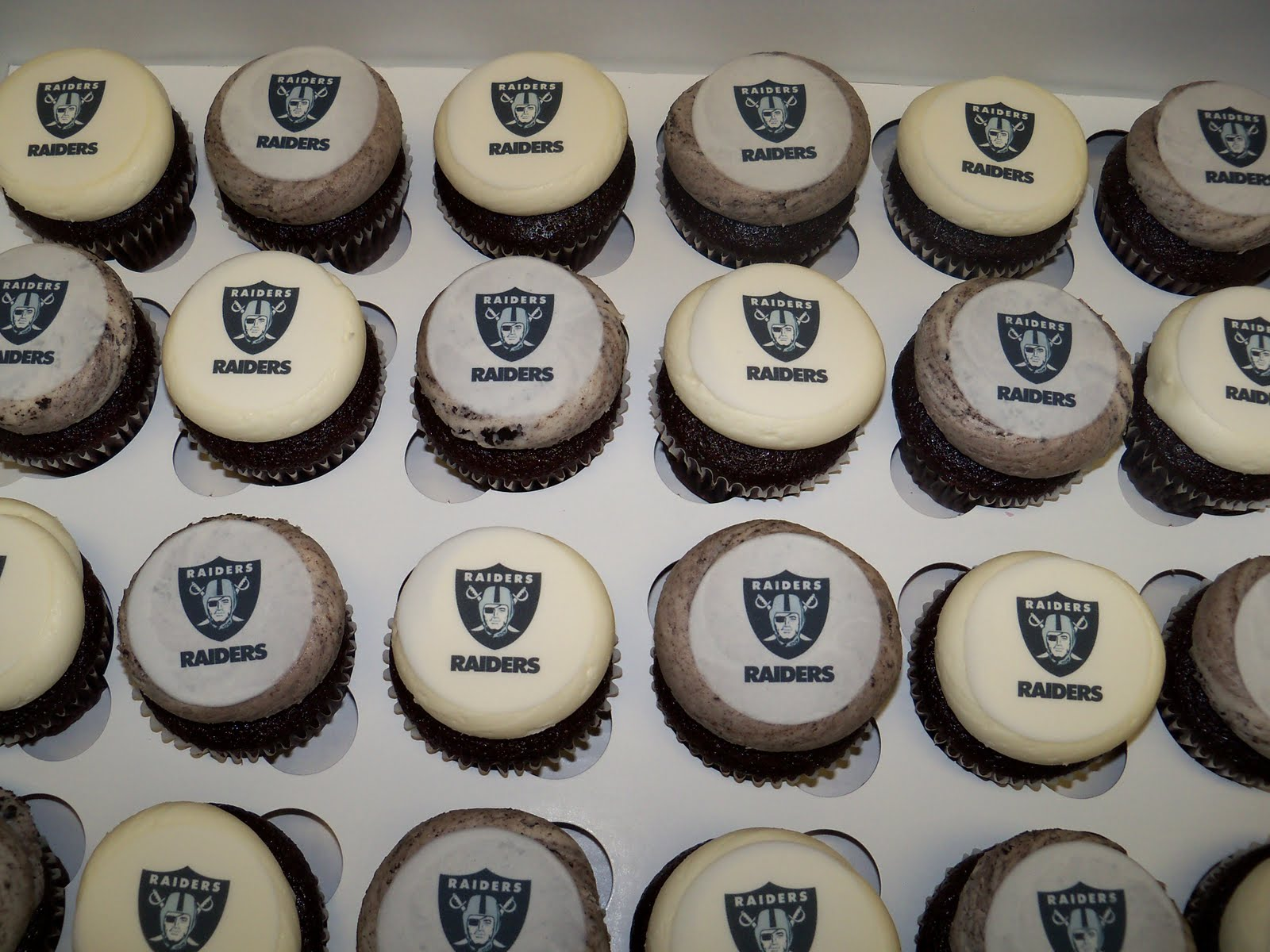 Raiders Cupcake Toppers