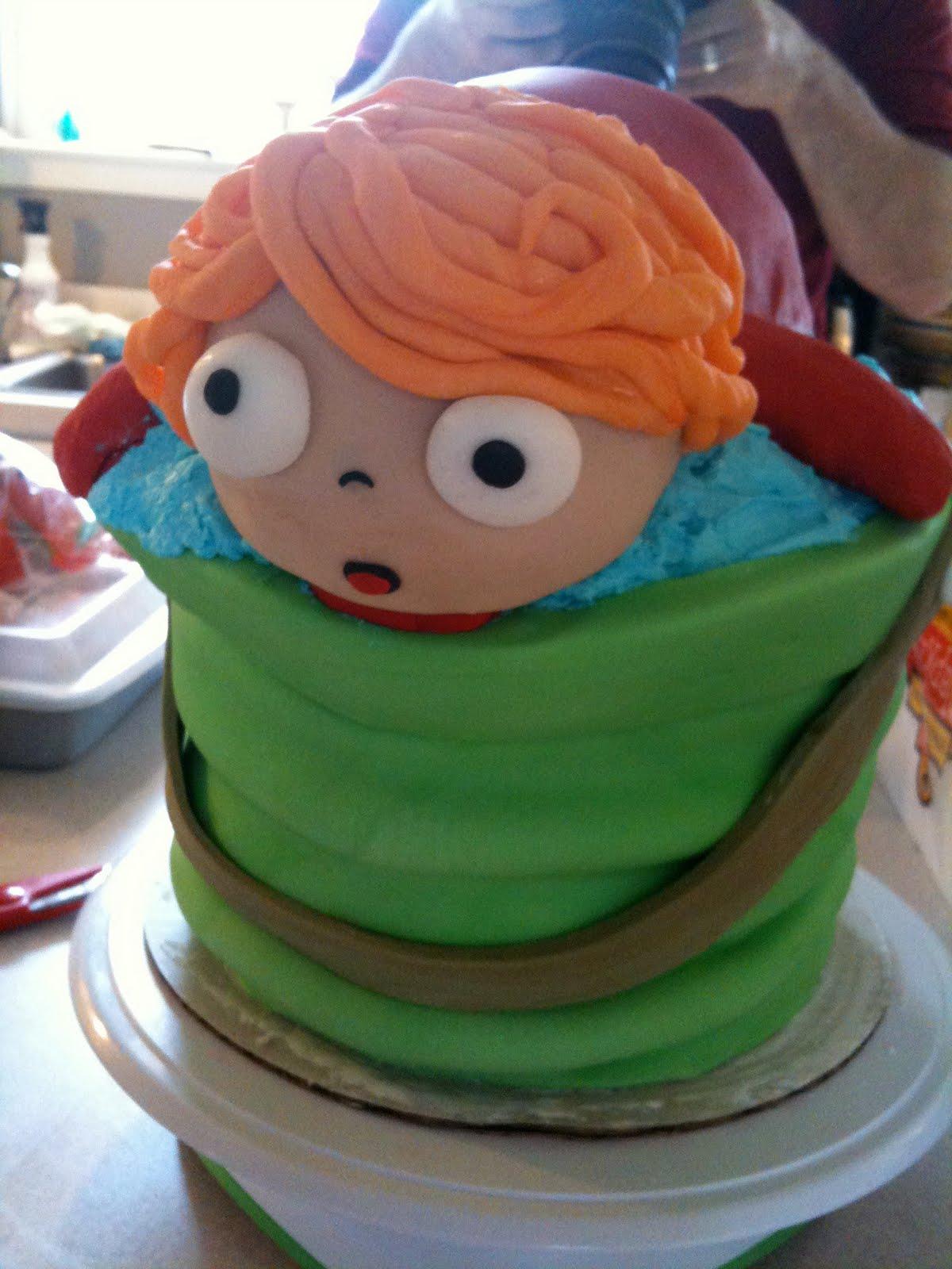 Happy Birdycake Ponyo Birthday Cake