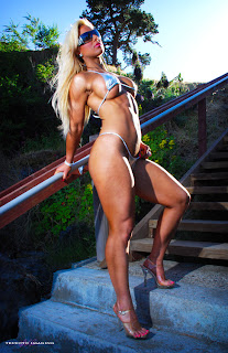 Megan Avalon: Pamela Sue Anderson and female bodybuilder in one
