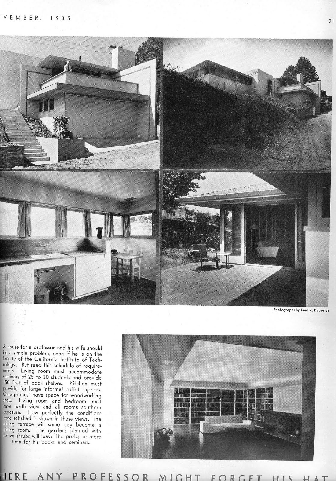 California Arts U0026 Architecture, November, 1935. Graham Laing Residence,  Harwell Hamilton Harris. (From My Collection).
