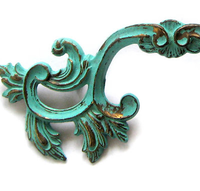 Step by Step Instructions Created an Aged Turquoise Patina - The Decorated House