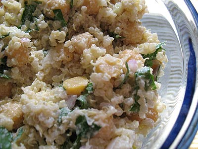 Chickpea and Quinoa Salad with Lemon and Tahini