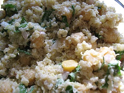 Chickpea and Quinoa Salad with Lemon and Tahini