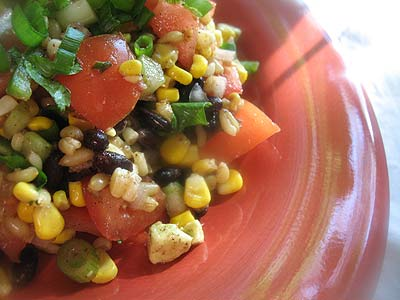 Brown Rice and Two-Bean Salad with Chili-Lime Dressing
