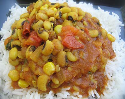 Black-Eyed Pea Sambar