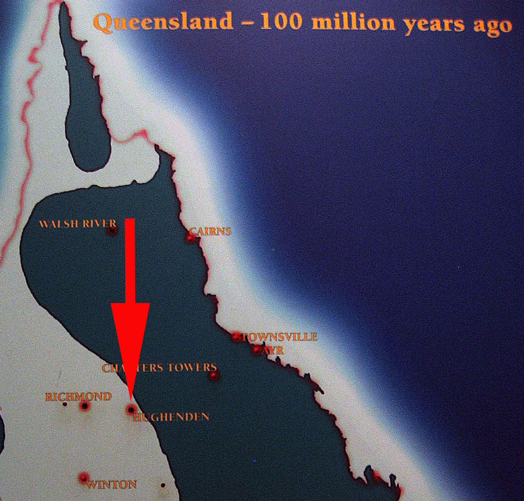 5e14881f79d A paleogeographic map of northeastern Queensland 100 million years ago,  during the Cretaceous Period; map from the Museum of Tropical Queensland.