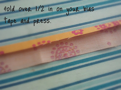 A close up of how to sew the bills on your hot pad.