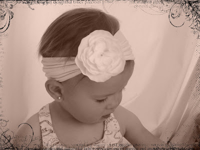 Inspiration Organization Baby Headbands Made With Tights