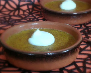A rustic pumpkin pudding
