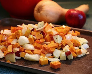 Make something! (How to Safely Cut a Butternut Squash into Pretty Little Cubes, Step by Step ♥ AVeggieVenture.com)