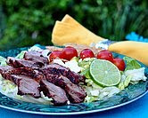 Grilled Steak with Summer Tomato Salad