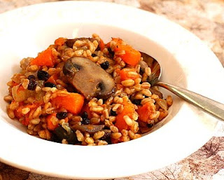 Farro Risotto with Butternut Squash & Mushrooms