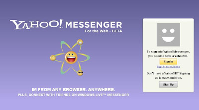 YAHOO! MESSENGER For the Web - BETA